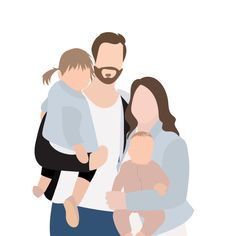 Fiverr freelancer will provide Portraits & Caricatures services and illustrate a custom family portrait for you including Figures within 7 days Family Portrait Drawing, Family Drawing, Family Painting, Portrait Art, Family Portraits, Family Illustration, People Illustration, Portrait Illustration, Illustrations