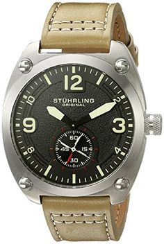 online shopping for Stuhrling Original Men's 'Aviator' Quartz Stainless Steel Leather Casual Watch, Color:Black (Model: from top store. See new offer for Stuhrling Original Men's 'Aviator' Quartz Stainless Steel Leather Casual Watch, Color:Black (Model: Casual Watches, Watches For Men, Wrist Watches, Watch Model, Black Models, Black Leather, Quartz, Stainless Steel, The Originals
