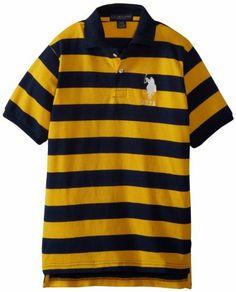 U.S. Polo Assn. Boys 8-20 Yarn Dyed Striped Polo, http://www.amazon.com/dp/B00DURICFK/ref=cm_sw_r_pi_awdm_mR7qtb0NFQ7AR