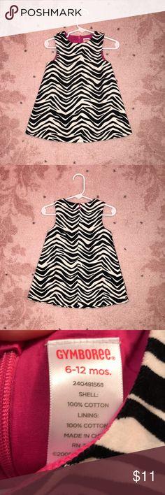 Gymboree Zebra Sleeveless Dress 6 - 12 Months EUC ⭐️Beautiful Gymboree Baby Girls Sleeveless Dress. Zebra print with pink lining. Shell and lining are both 💯 cotton. Shell is not quite corduroy but it does have a thicker feel to the fabric. Size 6-12 months. In excellent used condition. ✨Check out my closet for similar listings! Gymboree Dresses