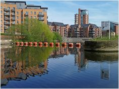 Discovering Leeds: the history of the Leeds waterfront via Life in Leeds Canal Boat, Leeds, Cool Places To Visit, Exterior Design, Yorkshire, Apartments, The Good Place, United Kingdom, Boats