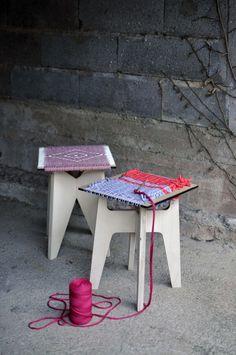 CandiD est un duo monté en 2014 par Irina Pentecouteau et Cécile Laporte. Les deux designers ont obtenu en 2013 un master en design global à l'institut sup Journal Du Design, Stool, Laporte, Master, Fun, 2013, Designers, Home Decor, Tejido
