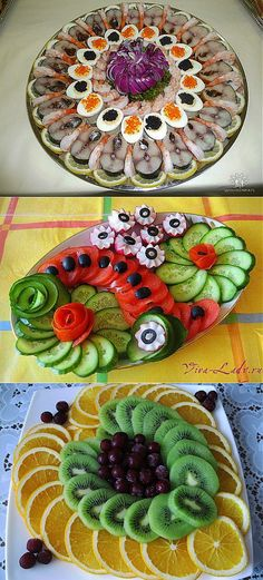 New fruit party decorations veggie platters ideas Veggie Platters, Veggie Tray, Food Platters, Fruit Party, Fruit Snacks, Food Design, Design Design, Salad Presentation, Creative Food Art