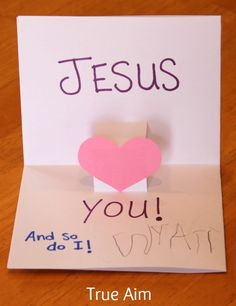 Easy Valentine's Day Pop-up card kids can make!
