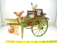 Dollhouse Miniatures The Farmers Wife Chicken Cart 1:12 Artisan (DIY idea)