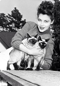 A very young Ava Gardner.