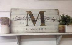 Rustic Family Name Wood Sign