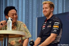 Sebastian Vettel as he makes a special appearance at Infiniti & Nissan HQ in Yokohama, Japan | ベッテルが日産でトークショー「ガンバリマス!」