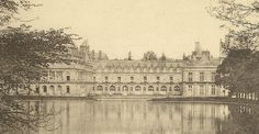 Vintage Postcard Palais de FONTAINEBLEAU with by TheOldBarnDoor, $4.00