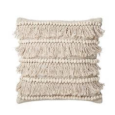 Lene Bjerre Marelle Cushion: The Marellle cushion is made from cotton with a duck feather inner. Delicately adorned with neutral tassel detailing. Textile Patterns, Textile Design, Interior Design Major, Boho Decor, Neutral, Feather, Bedroom Decor, Throw Pillows, Cotton