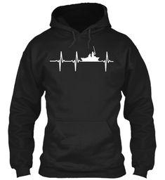 Fishermen - Fishing Heartbeat Hoodie