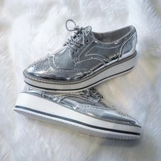 Lisa is so happy with her new silver oxford shoes! LOVE LOVE LOVE!