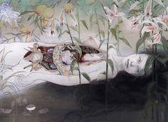 Pain and Vigor in Fuyuko Matsui's Neo-Nihonga Paintings | Hi-Fructose Magazine