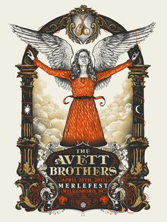 Zeb Love's Newest Poster for The Avett Brothers