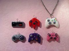 VideoGame Controller Necklace Charm by SpicyNerd on Etsy, $9.00