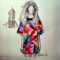 simple fashion illustration