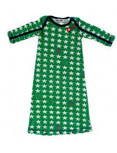 Tausend Sternchen nur für Dich! Schönes Nachthemd von Kik Kid, süß geschnitten und ganz besonders praktisch da es sich unten zuknöpfen läßt...also Freistrampeln unmöglich. 25,50 Euro