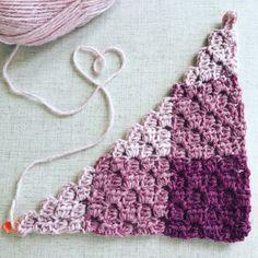 Gingham Crochet Corner to Corner Blanket in LionBrand Wool-Ease Yarn - Free Pattern, #haken, gratis patroon (Engels), C2C in ruitpatroon, steek, techniek, deken, #haakpatroon