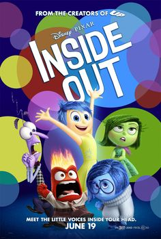 Poster for Pixar's Inside Out! Poster for Pixar's Inside Out! Film Inside Out, Disney Inside Out, Inside Out Poster, 2015 Movies, Hd Movies, Movies And Tv Shows, Movies Online, Watch Movies, Movies Free