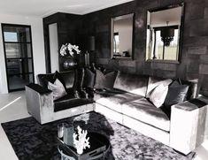 Silver Living Room, Living Room Grey, Living Room Modern, Living Room Decor, Home Bedroom, Bedroom Decor, Home Suites, Home 21, Dream Apartment