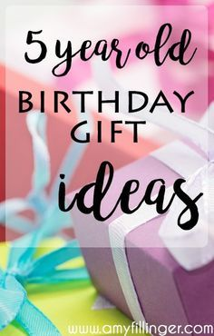 5 Year old birthday gift ideas | Ideas and inspiration for what to buy a 5 year old for their birthday. If you're looking for a gift for a 5 year old, check out this list! All of these ideas are 5 year old approved!