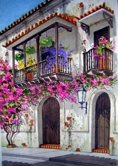 Photographic Print: Flowers of Private Home, Burgundy, France by Lisa S. House Painting, Painting & Drawing, Pintura Colonial, Wall Art Designs, Home Art, Flower Art, Watercolor Paintings, Beautiful Places, Scenery