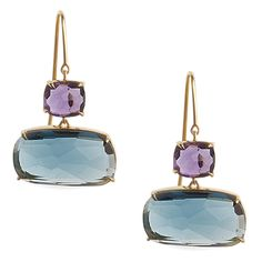 Marco Bicego 18K Yellow Gold Murano Amethyst and Topaz Earrings