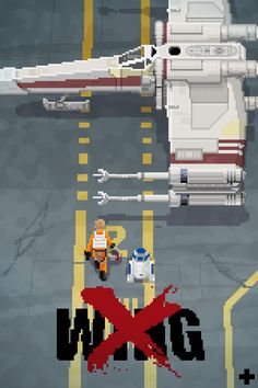 Quick pixel-art for Pixel Dailies on Twitter. The theme was x-wing !