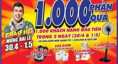 Khuyến mãi Trần Anh tặng 1000 phần quà cho khách hàng trong ngày 30-4 và 1-5-2014 | ghienkhuyenmai