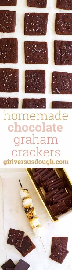 ... | Homemade graham crackers, Graham crackers and Homemade chocolate