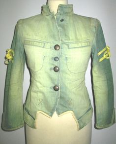 * * * MARITÉ+FRANCOIS GIRBAUD Jeansjacke gelb überfärbt, Gr.34 * * *   eBay Ebay, Clothing Accessories, Jackets