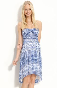 Free People Watercolor Strapless Dress