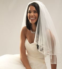 Swarovski Crystal & Beaded Veil-- Wedding Veils