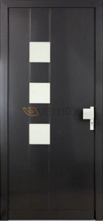 Puerta de Entrada en PVC Aluminio  Atractivo diseño, técnicamente perfecta  Las puertas de entrada de PVC Aluminio Vemax, al igual que las ventanas unen el PVC con el Aluminio demostrando unas elevadas cualidades de este excepcional producto y una seguridad comprobada. La puerta es la entrada de una vivienda, tiene que ser distinguida.Linea Exclusiva