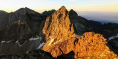 The Vysoká from the Rysy High Tatras, Tatra Mountains, My Eyes, Sunrise, Trail, Hiking, Nature, Pictures, Walks