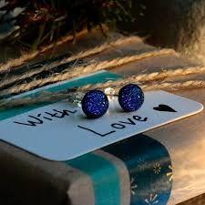 Mere Glass Fused Glass Jewelry, Glass Earrings, Unique Earrings, Sterling Silver Cufflinks, Sterling Silver Earrings, Pink Pendants, Earring Backs, Deep Blue, Studs