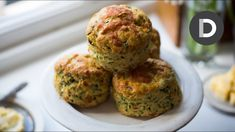 I love using wild garlic when it's in season and it goes wonderfully in these savoury scones. It has a wonderful, subtle flavour but if you can't get your hands Weed Recipes, Cooking Recipes, Recipies, Great Recipes, Dinner Recipes, Savory Scones, Wild Garlic, Savoury Baking, Brunch