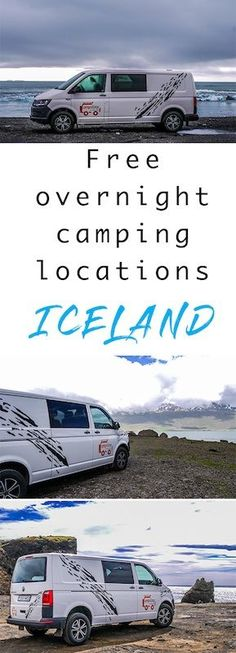 Where to park campervan in iceland? There's plenty of confusion about this but free camping in a campervan in Iceland is possible. Click to read.  Wild camping in Iceland | Free camping Iceland | Campervans in Iceland #campervans #Iceland #camping