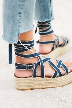 These endlessly strappy vegan sandals. | 27 Ridiculously Cute Platforms You Can Wear All Day Long