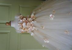 Flower girl dress Champagne Dress Champagne tutu by FashionTouch, $130.00