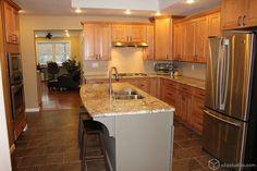 Cambridge Maple Caramel Raised Panel Kitchen Cabinets from CliqStudios.com