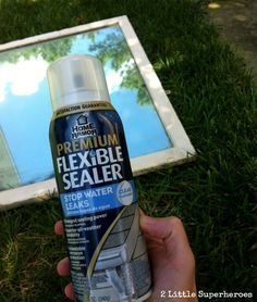 "weather proofing an outdoor mirror with ""Flexible Sealer"""