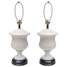 Pair of Italian Ceramic  Lamps | From a unique collection of antique and modern table lamps at https://www.1stdibs.com/furniture/lighting/table-lamps/
