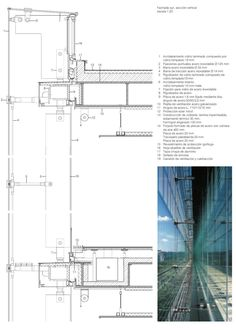 Journal of Architecture and Construction Details · Facades · Year 2001 · 1 B 2772 NOV DEC · Interior Architecture Drawing, New York Architecture, Architecture Details, Landscape Architecture, Facade Engineering, Civil Engineering Design, Structural Drawing, Construction Drawings, Architectural Section