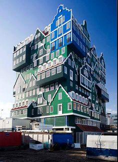 L'hotel le plus dingue du monde est à Zandam aux Pays Bas