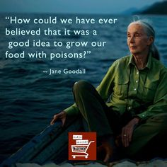 How could we have ever believed that it was a good idea to grow our food with poisons? ~ Jane Goodall