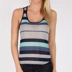 Cute Clothes For Juniors   One Clothing Juniors Striped Tank with Contrasting Trim #VonMaur # ...