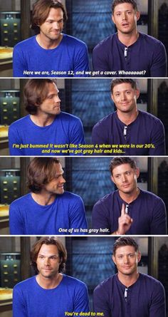 Jensen's face in the last one hahahaha he's so proud of himself hahaha