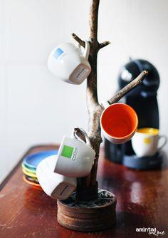 Welcome Home II . #cup #kitchen #hanger #DIY #recycle #eco #handmade