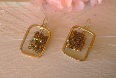 Σκουλαρίκια με κρύσταλλα Swarovski Diamond Earrings, Drop Earrings, Earrings Handmade, Swarovski, Jewelry, Bijoux, Drop Earring, Jewlery, Jewels